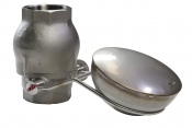 Overfill prevention device in stainless steel